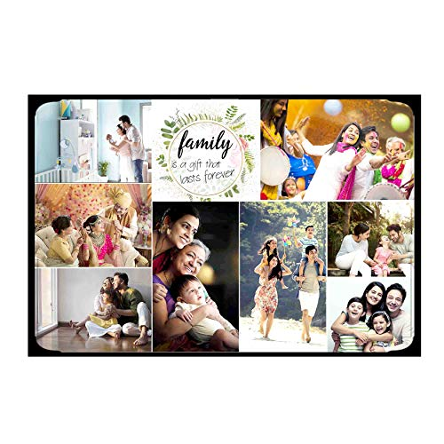 FLASHING CLICK 10 x 15'' personalized customized wooden photo frame collage