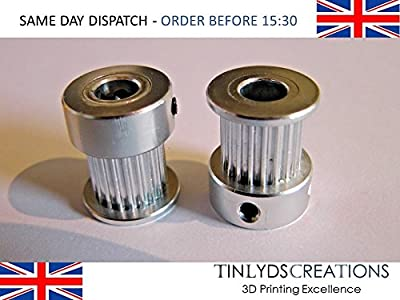 gt2 pulley 20 teeth 6.35mm bore - 10mm timing belt pulley