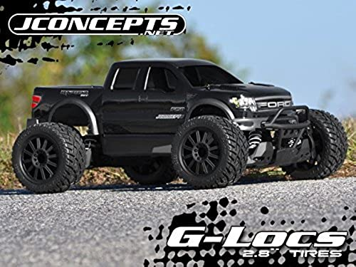 G-LocsTire, Gelb Mnt 2.8 Blk Wheel  ST 4x4 by J Concepts