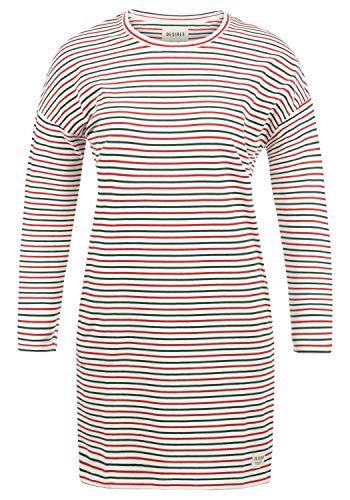 DESIRES Helena Sweatkleid Sommerkleid Kleid Mit Streifen-Optik Und Rundhals Aus Stretch-Material, Größe:L, Farbe:Ponderosa (3680)