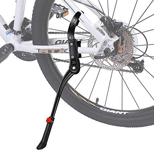 Fahrradständer,DIAOCARE Seitenständer Fahrrad für 24-29 Zoll Mountainbike, Rennrad, Fahrräder und Klapprad, Höhenverstellbar Universal Aluminiumlegierung Fahrrad Ständer mit Rutschfester Gummiständer