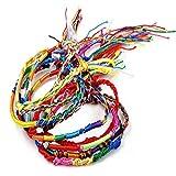 Franterd 100Pcs Handmade Bracelets Lot Braid Strands Friendship Cords Wholesale Jewelry