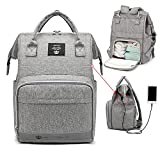 Diaper Bag Backpack, Large Capacity Maternity Back Part Openable Bag with Waterproof Pocket, Multifunction Travel Back Pack for Men and Women