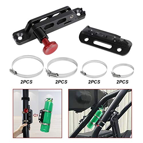 Sulokiy Quick Release Universal Adjustable Fire Extinguisher Mount bracket roll bar extinguisher mount Fit For Jeep Wrangler UTV Polaris RZR Ranger Can-Am Maverick ATV