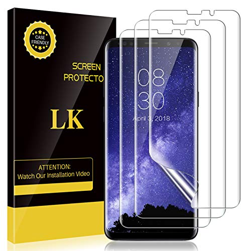 3 Pack LK Screen Protector Compatible with Samsung Galaxy S9, New Version, Case-Friendly, Bubble-Free, HD Transparent Flexible TPU film-NW153