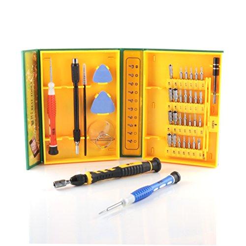Slabo Universal Werkzeugset 38-teilig für Smartphone/Handy/Laptop/PC/iPhone/MacBook Schraubendreher Set Repair Tool Kit