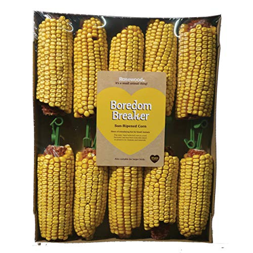 Rosewood Small Animal Activity Toy Corn On The Cob Boredom Breaker, Pack of...