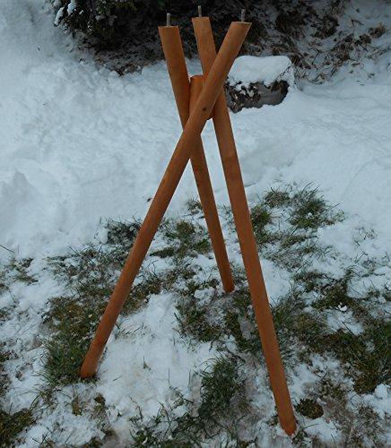 Naturholz-Schreinermeister Exclusiver Dreibeinständer Vogelhausständer für Vogelhäuser Standfuß Massivholz ohne Haus
