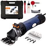 Pet & Livestock HQ | 380W Sheep Shears Electric Clipper Goats, Alpaca, Llamas, Angora Rabbits Shearing Hand Piece Cutter Grooming Farm Pet Supplies Livestock, 2 Blades, CE