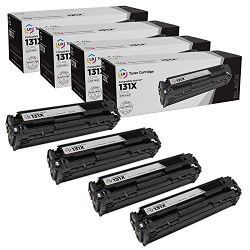 LD Remanufactured Toner Cartridge Replacement for HP 131X CF210X High Yield (Black, 4-Pack)