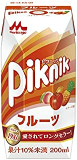Morinaga Milk Industry Co., Ltd. picnic fruit (Prisma container) 200ml paper pack X24 pieces