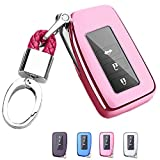 Mofei for Lexus Key Fob Cover - Soft TPU Key Fob Case Protective Sleeve Protector Shell Keyless Remote Control Smart Key Holder Jacket with Key Chain for Lexus RX is CT GS NX ES RC RCF GSF (Pink)