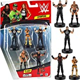 WWE Superstar Stampers, Set of 5 - Self-Inking WWE Superstars for Crafts, Party Decor, Cake Toppers Gifts - Seth Rollins, Braun Strawman, Roman Reigns, The Rock, and More by PMI, 2.3-2.5 in. Tall.