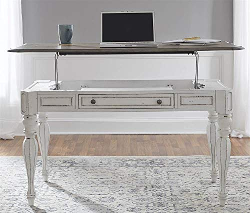 Liberty Furniture Industries Magnolia Manor Lift Top Writing Desk, W56 x D28 x H30, White