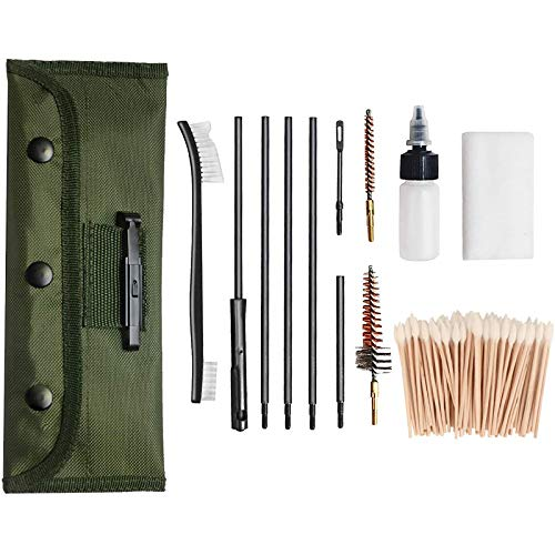 GLORYFIRE Universal Gun Cleaning Kit Hunting Rifle Handgun Shot Gun Cleaning Kit for All Guns with Case Travel Size Portable Metal Brushes