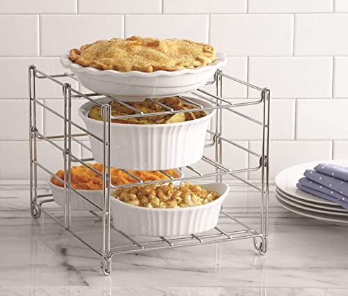 Betty Crocker 3-tier Oven Rack. Bake 3 Tiers of Casseroles, Pies, Appetizers Next to your Roasting Pan. Doubles the Capacity of Your Oven Allowing for Baking Next to Roasting Pan. Dishwasher Safe