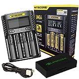 Nitecore UMS4 USB Universal 4-Port Speedy Smart Charger for Li-Ion/Ni-MH/Ni-Cd/IMR 26650 22650 21700 20700 18650 18490 18350 17670 17500 17335 16340 RCR123 14500 AA AAA C D w/LifeMods Battery Case