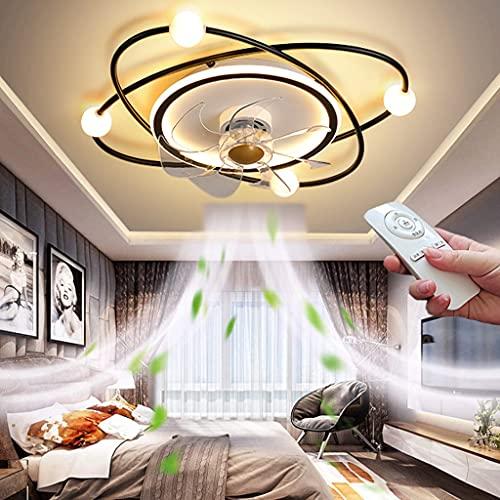 Lámpara de Techo para Dormitorio LED Ventiladores de Techo con Control Remoto Regulable Ultra Silencioso Luz del Fan 3 velocidades Moderna Diseño Ventilador Lámpara Colgante para Salón Ø55CM