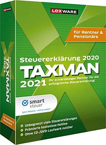 Lexware Taxman 2021 für das Steuerjahr 2020 Minibox Übersichtliche Steuererklärungs-Software für Rentner und Pensionäre