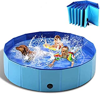 Sponsored Ad - WEIMIN Foldable Pet Dog Cats Paddling Bath Pool, Pet Swimming Pool Portable Outdoor Bathing Tub Pool Dogs C...