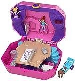 Polly Pocket Coffret Univers La Boîte à Musique avec 2 mini-figurines et accessoires, autocollants et 5 surprises cachées, jouet enfant, GCJ88