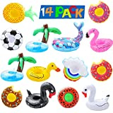 Inflatable Drink Holders pool coasters for drinks Floats...