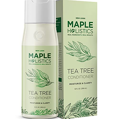 Tea Tree Conditioner for Dry Hair - Tea Tree Oil Conditioner for Damaged Dry Hair and Cleansing Conditioner for Dry Scalp Care - Sulfate Free Conditioner with Nourishing Tea Tree Oil for Hair Care