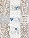 One Direction Academic Planner 2021/2022: DATED Calendar | Monthly Journal | Organizer For Study | Improving Personal Efficency Agenda | Silver Leaves