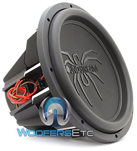 "Soundstream 2600W Peak (1300W RMS) 15"" Tarantula Series Dual 4-Ohm Car Subwoofer"