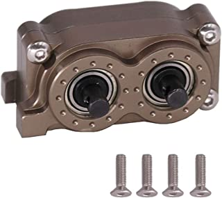 Toyvian Rc Car Transfer Case Rc Car Gearbox 1/10 RC Car Accessories Set Front Motor Gearbox Compatible for Wrangler SCX10 (Brown)