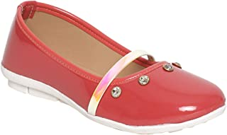 Chipbeys Apple red Bellies with Round Toe, Regular Styling and Stud Details Anti Skid Sole