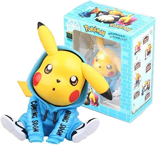 Rowe Anime Model Statue Pokemon Anime Figures Model Collectible PVC Toy Anime Character Model Creative Home Decoration Anime Model ( Color : B , Size : 12CM ) image
