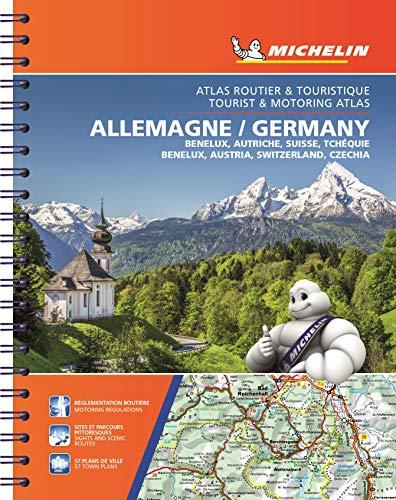 Atlas Germany, Benelux, Austria, Switzerland, Czech Republic (A4) (Atlas de carreteras Michelin)