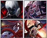 Tokyo Ghoul Poster Kaneki mask (Unframed) Japan Anime Poster HD Paper Anime Art Prints for Home Decor (Set of 4, 8X10in)