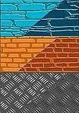 DTM - Accessoires FImo, plaque de texture, pierre brique acier