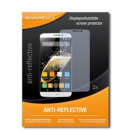 SWIDO Schutzfolie für Zopo Speed 7 Plus [2 Stück] Anti-Reflex MATT Entspiegelnd, Hoher Härtegrad, Schutz vor Kratzer/Displayschutz, Displayschutzfolie, Panzerglas-Folie