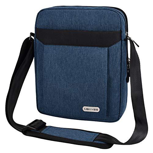 UBAYEE Borsello Uomo Tracolla in Tela con Multi-scomparti (Compatibile con Tablet iPad da 10,5 Pollici, 25 cm), Blu marino