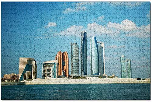 UAE Etihad Towers Abu Dhabi Jigsaw Puzzle 1000 Piece Travel Souvenir Wooden