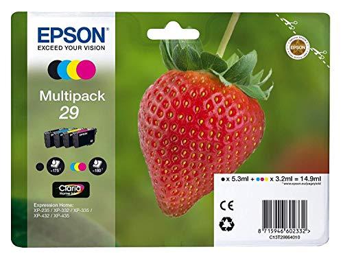Epson 29CMYK Noir, Cyan, Magenta, Jaune Cartouche d'encre–Cartouche d'encre pour imprimantes (Noir, Cyan, Magenta, Jaune, Epson Expression)