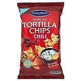Santa Maria Tortilla Chips con Chili, Rosso, 185 Gr