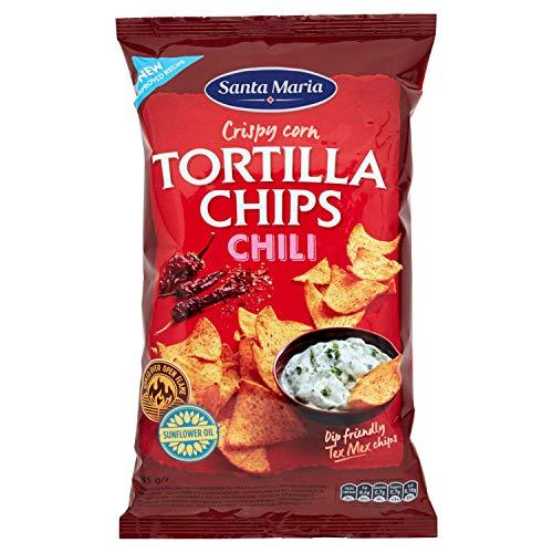 Santa Maria Tortilla Chips con Chili Rosso, 185g