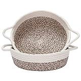 Sea Team - Paquete de 2 cestas de Cuerda de algodón, Cesta de Almacenamiento Tejida pequeña de 10...