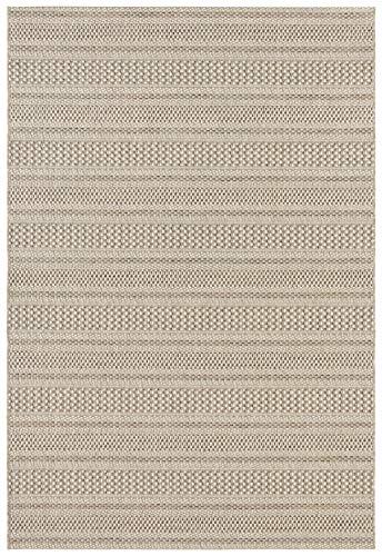 Elle Decor Flachgewebter In- und Outdoor Teppich im Handmade-Look Arras Naturbraun, 120x170 cm