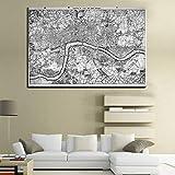 Mapa de viaje multifuncional personalizado mapa del mundo cartel viajero vacaciones foto hogar sala de estar arte sin marco decorativo cartel Z55 60x80cm