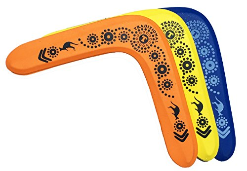3 NAPA Foam Boomerangs - Safe Kids Boomerang for Sale for Light to NO Wind Throwing!