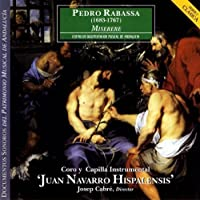 Pedro Rabassa: Miserere, Stabat Mater, Motetes