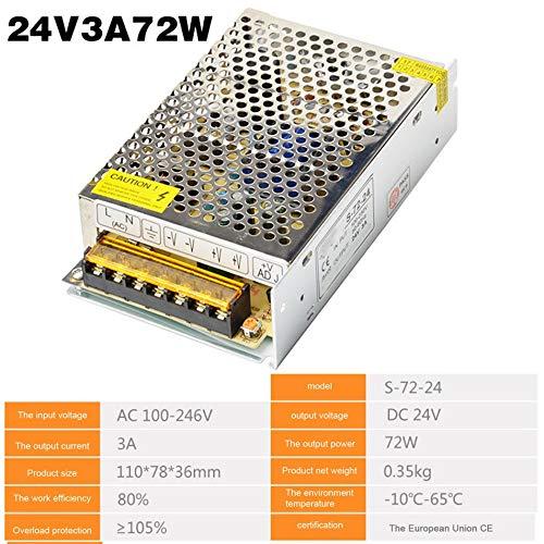 Silverdrew Fuente de alimentación conmutada DC24V 1A 2A 2.5A 3A 4.5A 5A 6.5A 8.3A 10A 12.5A 15A 16.5A AC 220V a DC24V AC-DC 24V para Tira de LED de 24V