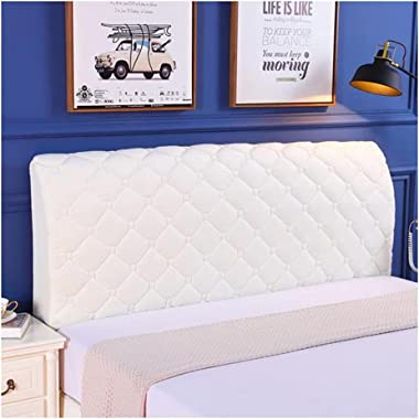 HDGZ Dust Cover European Cotton Cover Bed Headboard Cover,Soft Thicken Quilted with Side and Pocket Solid Color Dustproof Cot