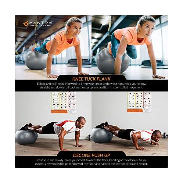 Gymnastikball Pilates Ball Sitzball Buero 55cm Geburtsball Fuer Schwangerschaft Balance Yoga Fitness Extra Dick Rutschfest Berstsicher Pezziball Mit Luftpumpe Anleitung