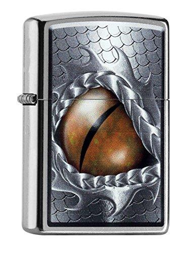 Zippo PL Dragon Eye 60001001 Feuerzeug, Messing, Edelstahl, 1 x 3,5 x 5,5 cm